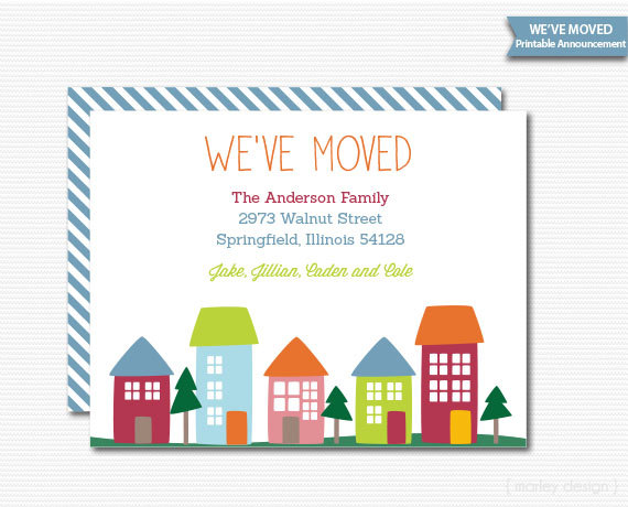 New Home Invitation Announcement We Ve Moved
