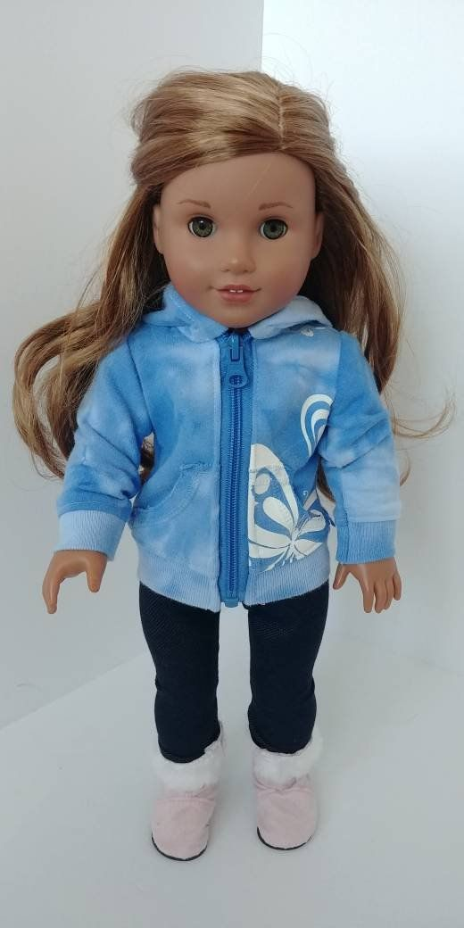 Fits like American girl doll clothing. 18 inch doll clothes. 18 doll clothing . Hoodie #girldollclothes