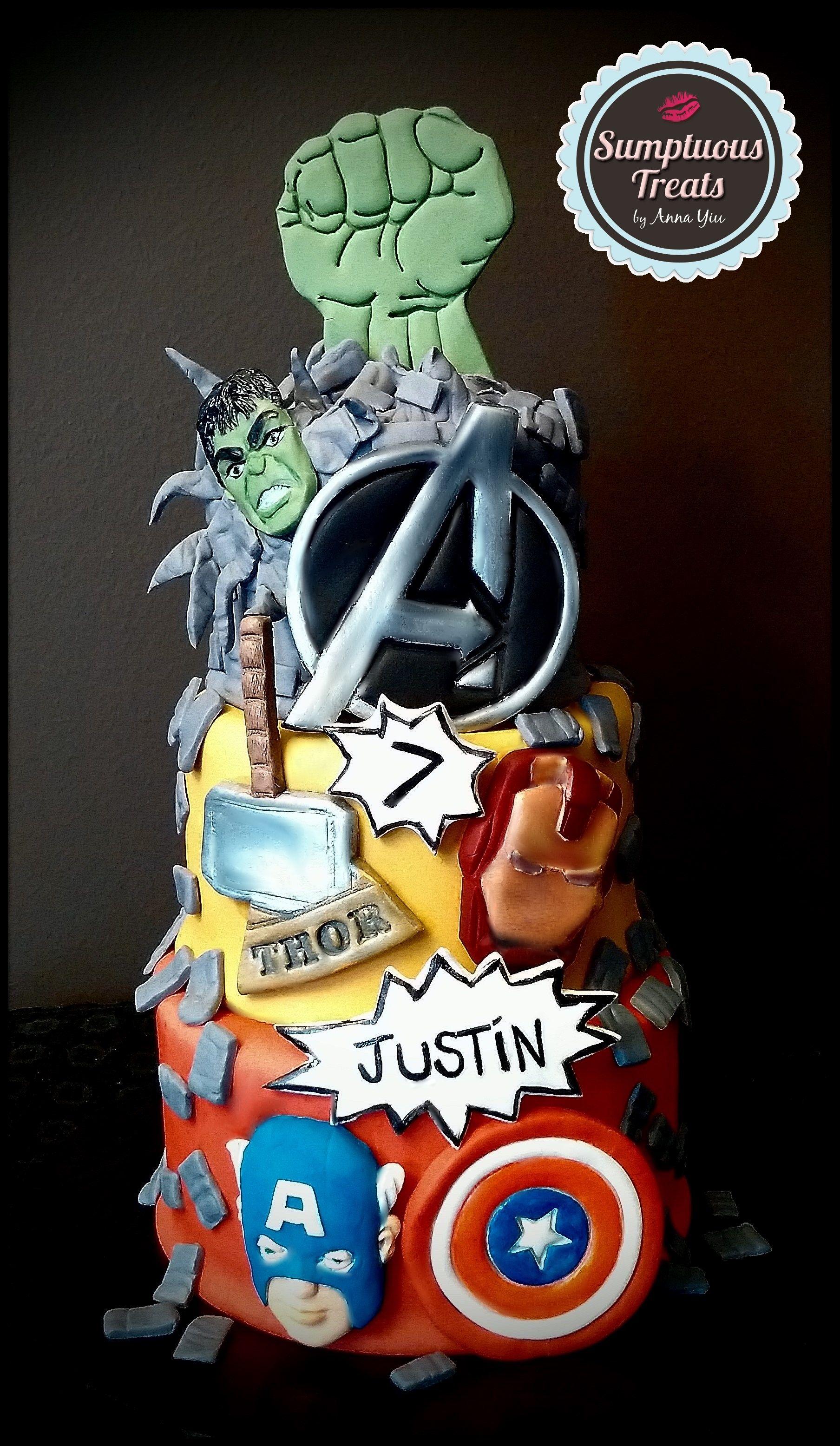 Avengers cake custommadetoorder cakes desserts