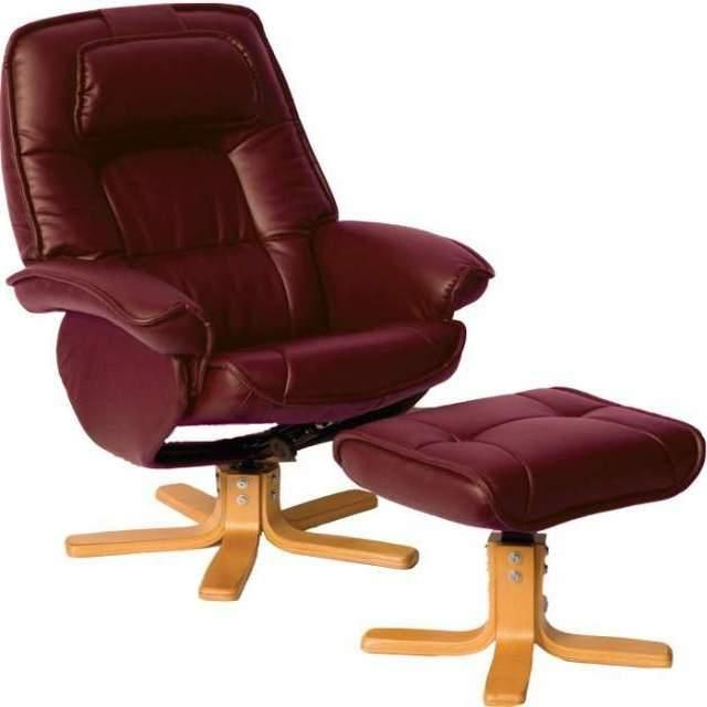 A Shapely Swivel Seat Inspired By Mid Century Design Our: Avanti Recliner Chair - Burgundy