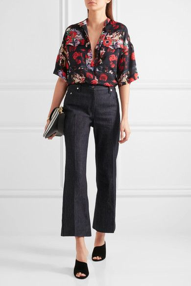 18dd1a3f KENZO Floral-print silk-georgette shirt Multicolored silk-georgette Snap  and concealed button fastenings through front 100% silk Dry clean Designer  color: ...