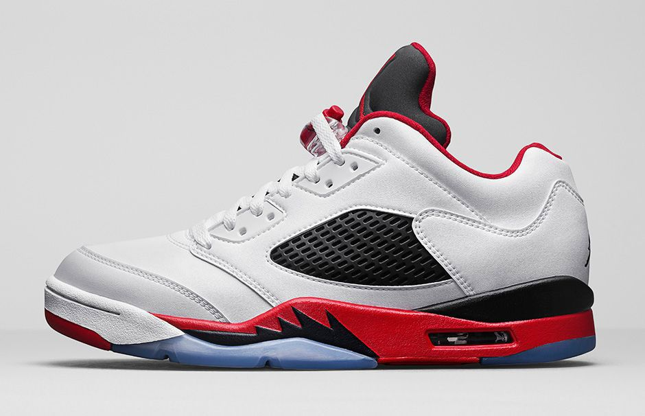 Official Images Of The Air Jordan 5 Low Fire Red