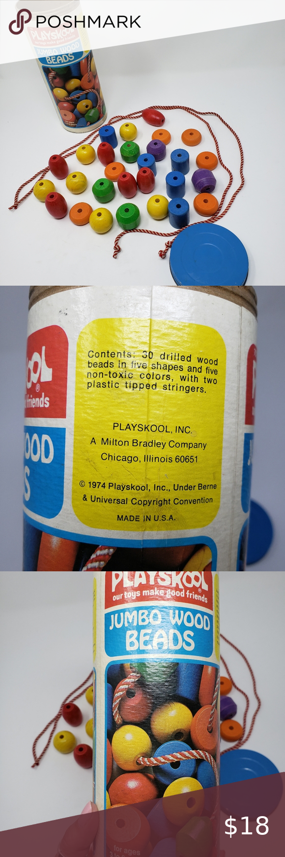 Playskool Wooden Beads