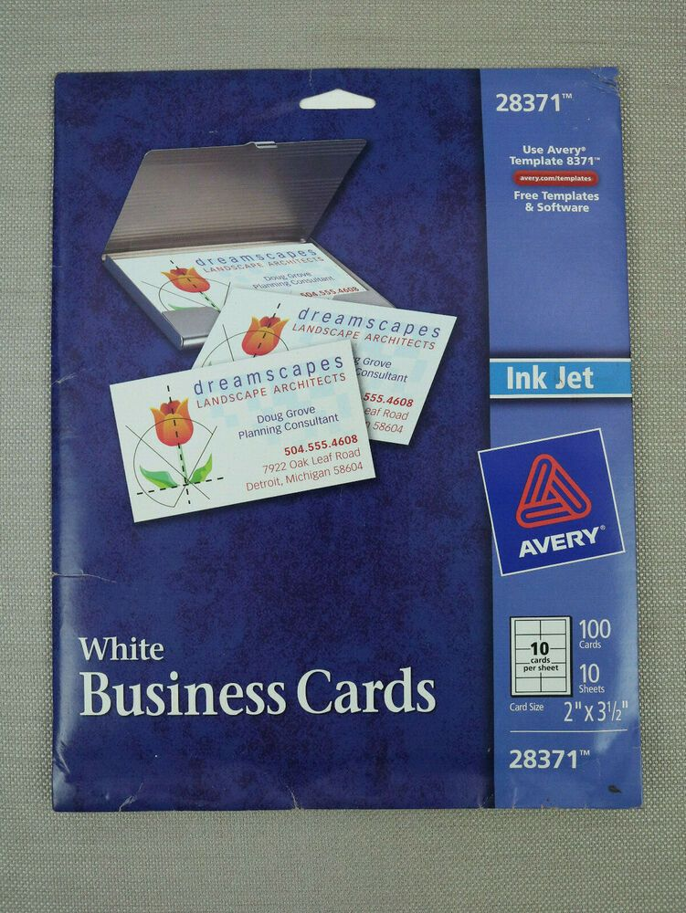 Avery White Business Card Perforated 100 Count 2 X 3 5 28371 Avery White Business Card Cards Business
