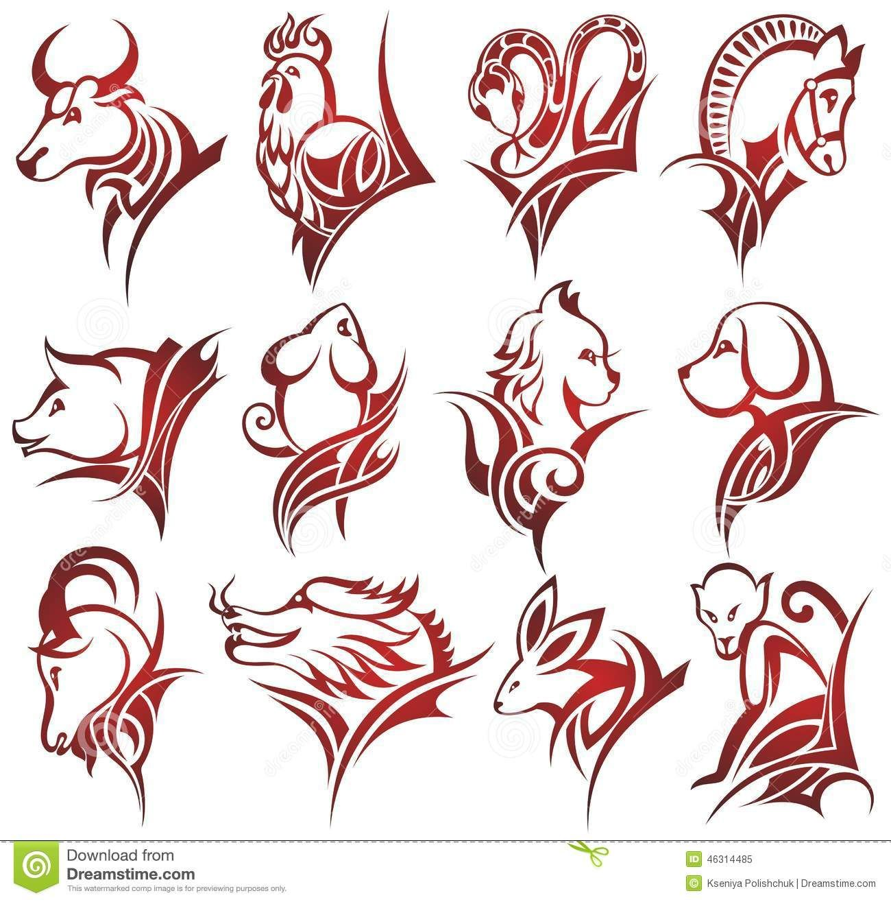 Chinese Boar Tattoo Chinese Zodiac Signs Stock Vector Image Zodiac Signs Animals Chinese Zodiac Signs Chinese Zodiac
