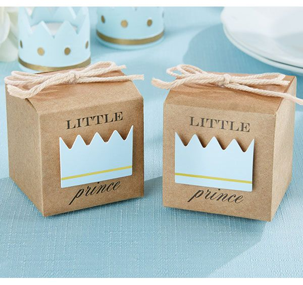 Give your guests this adorable Little Prince Kraft Favor Box for a sweet take-home treat for your guests.