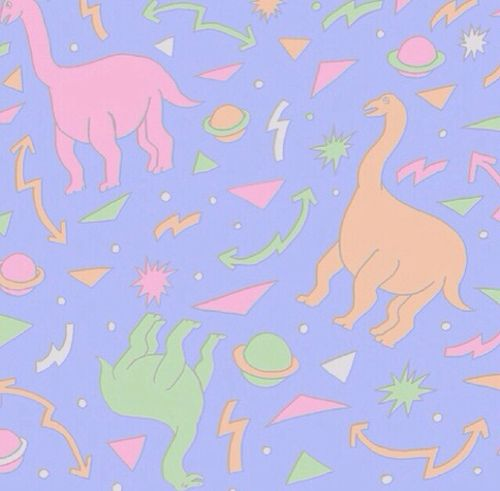 Keep your child's nursery stylish with our blue & pink mountain wallpaper, a minimal print that works with various themes. dino dinosaur color neon fluo galactic dinosaurios y ...