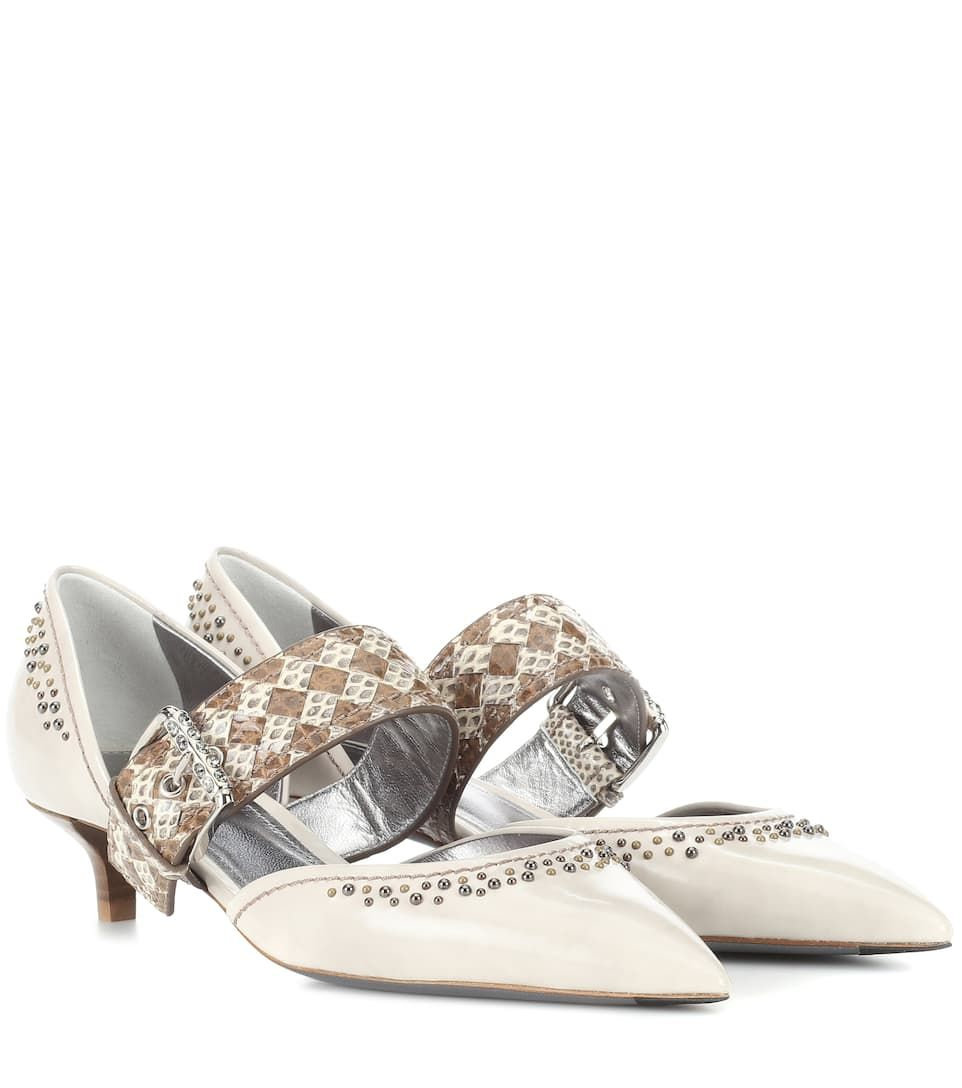 NIB New Bottega Veneta Snakeskin Leather Pumps Heels Shoes