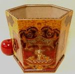 """Golden Goddess Hexagon Porcelain Planter 10"""" #hexagonplanter #interiordesign #porcelainplanter #planter #homedecor #gardenplanter"""