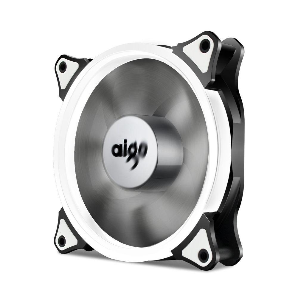Aigodiy Halo Led Ring Fan 120mm 12cm Sleeve Bearing 120mm White