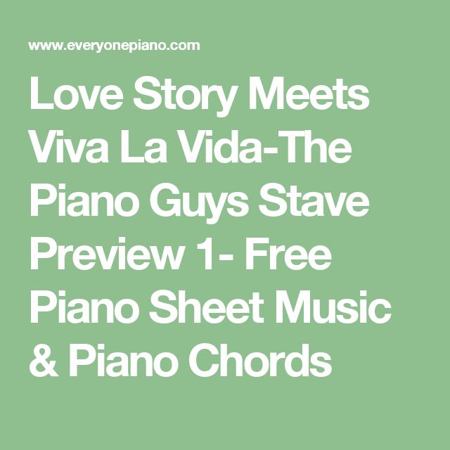 Love Story Meets Viva La Vida The Piano Guys Stave Preview 1 Free