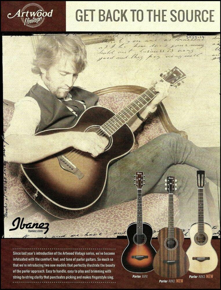 Ibanez Artwood Vintage Parlor Avn Series Acoustic Guitar Ad 2015 Advertisement Ibanez Ibanez Guitars Ibanez Acoustic Guitar Guitar Books