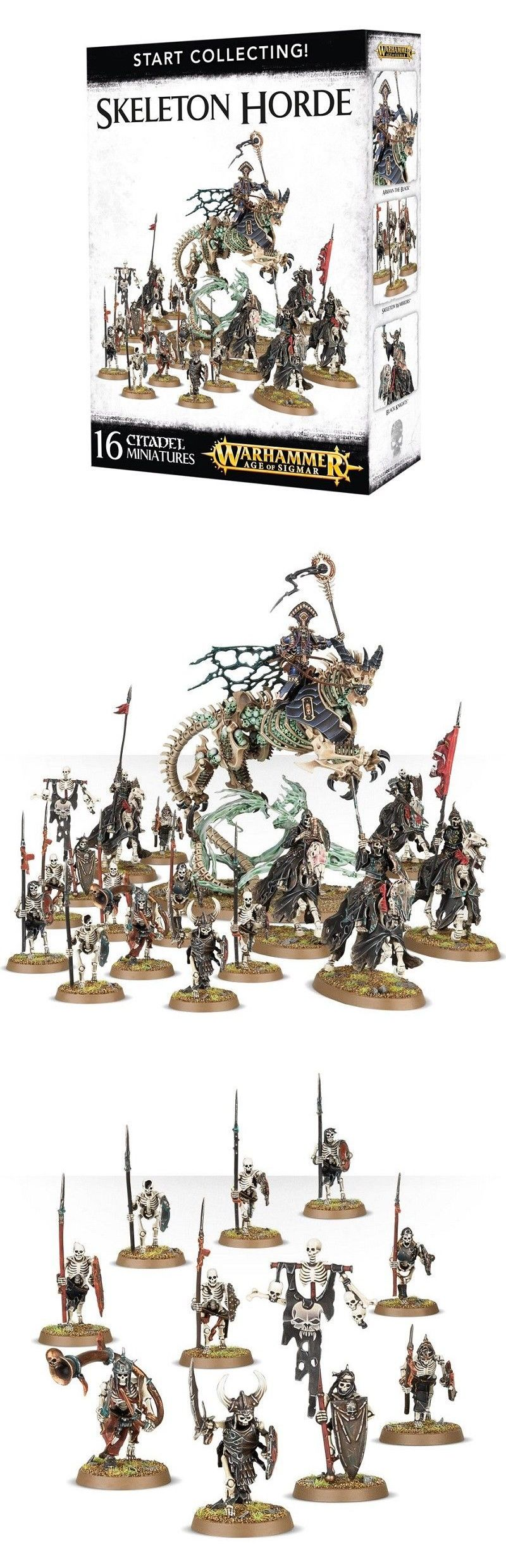 982f9e329f1 WFB Miniatures 183475  New  Warhammer Age Of Sigmar Start Collecting! Skeleton  Horde -  BUY IT NOW ONLY   70 on  eBay  miniatures  warhammer  sigmar  start  ...