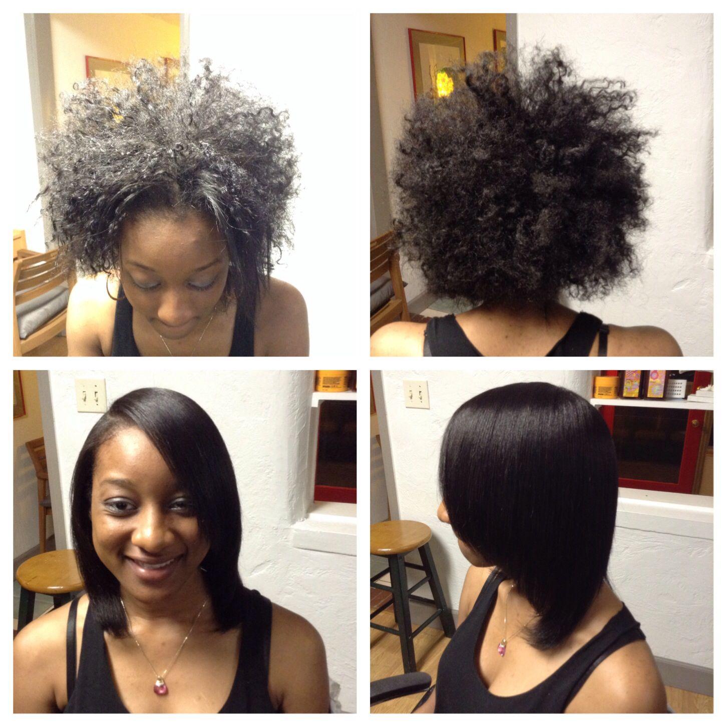 Blowout on natural hair   Natural hair blowout, Natural ...