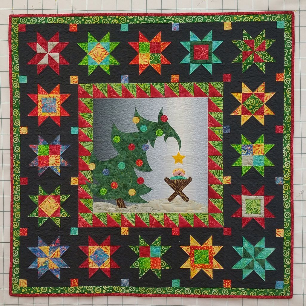Kerst Patronen Quilten.Christmas Morning Delight Quilt Pattern By Material