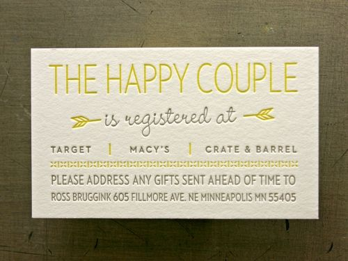 Happy Couple Great Design Wedding Registry Cards Registry Cards Free Wedding Registry