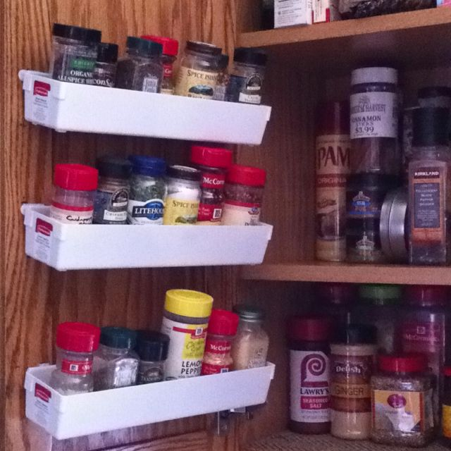 diy spice rack door organizing rubbermaid drawer organizers and rh pinterest com