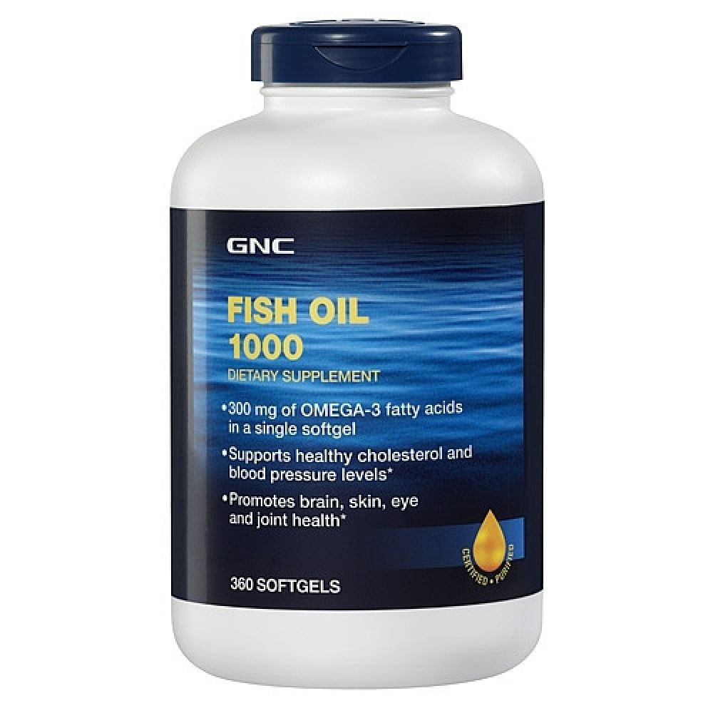 Gnc Fish Oil 1000 360 Softgel Capsules Fish Oil Joint Health Gnc