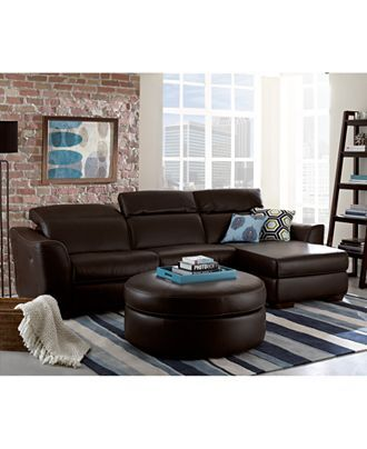 Alessandro Leather Sectional Living Room Furniture Collection Alluring No Furniture Living Room 2018