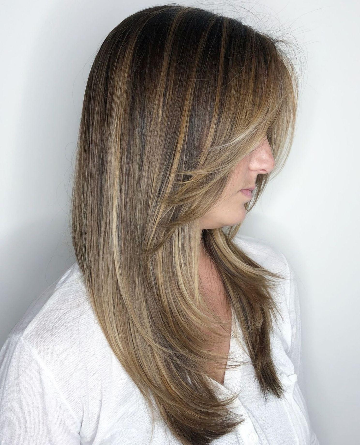 Long Front Layered Haircut Long Thin Hair Feathered Hairstyles Long Layered Hair