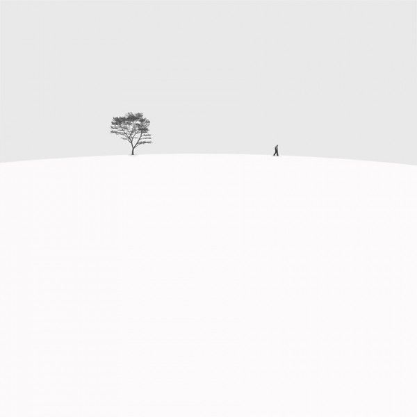 Iranian photographer hossein zare has created this impressive series of minimalist black and white photography