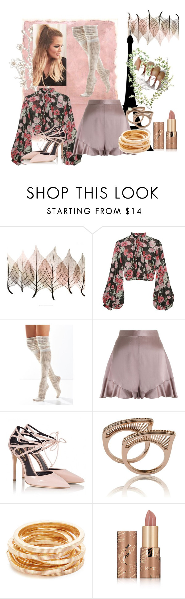 """""""Paris Excursion"""" by adele-h-pocketbook ❤ liked on Polyvore featuring Rothko, Jill Stuart, Urban Outfitters, Zimmermann, Fratelli Karida, Kenneth Jay Lane, tarte and floralprint"""