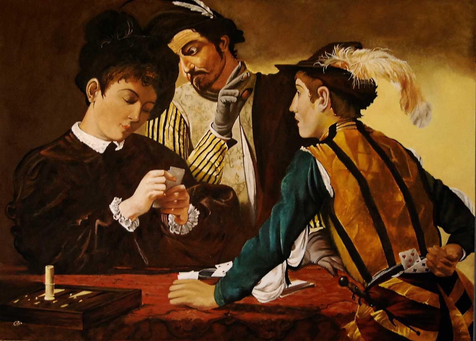 les tricheurs   Caravage, Merisier et Art de la renaissance