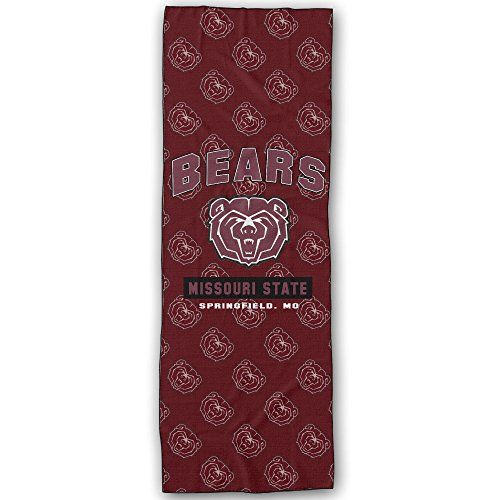 Missouri State University Bears Logo Yoga Mat Towel * You can find more details by visiting the image link. (This is an affiliate link) #YogaAccessories