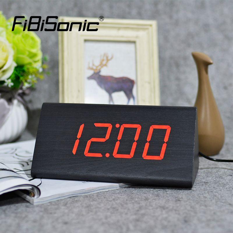 Free Shipping Buy Best FiBiSonic New Modern Wood clocksWooden