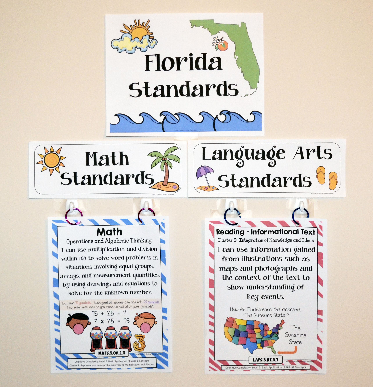 florida standards i can statements math ela 3rd grade full rh pinterest com