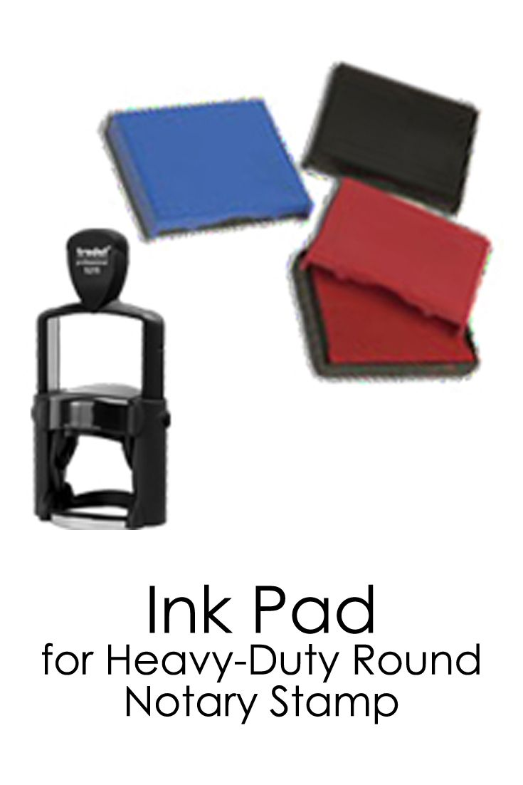 Ink Pad For The Heavy Duty Round Notary Stamp Three Colors To Choose From Can Easily Be Switched Out Notary Public Notary Notary Seal