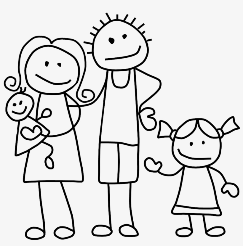 Download Family Clip Art Black And White Stick Figure Family Png Png Image For Free Search More High Quality Free Stick Figure Family Stick Figures Clip Art