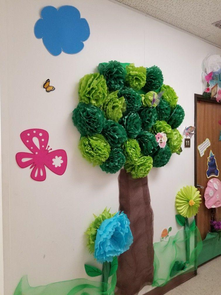 Wall Tree Paper Tree Classroom Paper Tree Tissue Paper Trees
