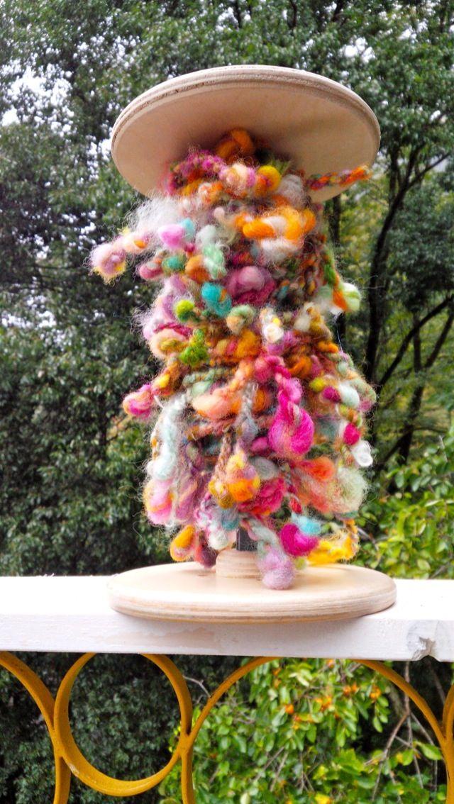 art yarn twist & pompom Happy spinning*モリノマキモノ Ruru Mori