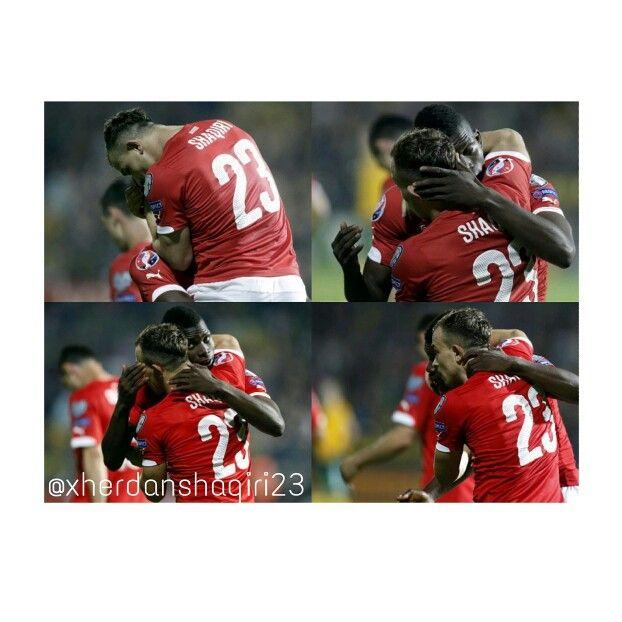 Swiss Football Team ⚽ Xherdan Shaqiri and Breel Embolo.  Instagram → @xherdanshaqiri23