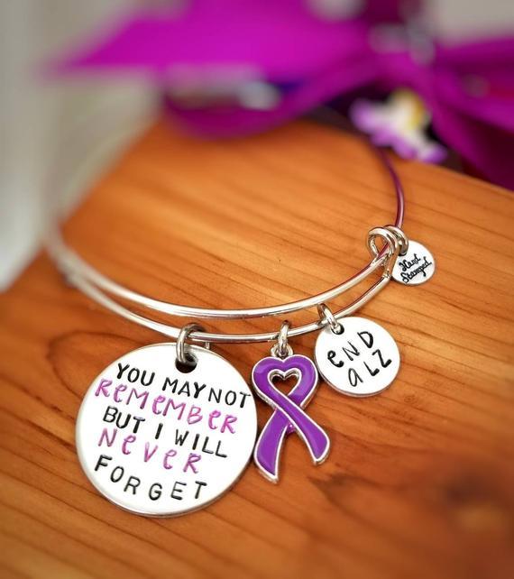 c637dea6ee6 Alzheimer Awareness Bracelet - You May Not Remember But I will Never Forget  - Dementia Awareness -