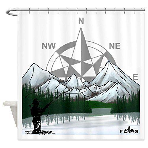 Cafepress Nature Fly Fishing Shower Curtain Decorative Fabric
