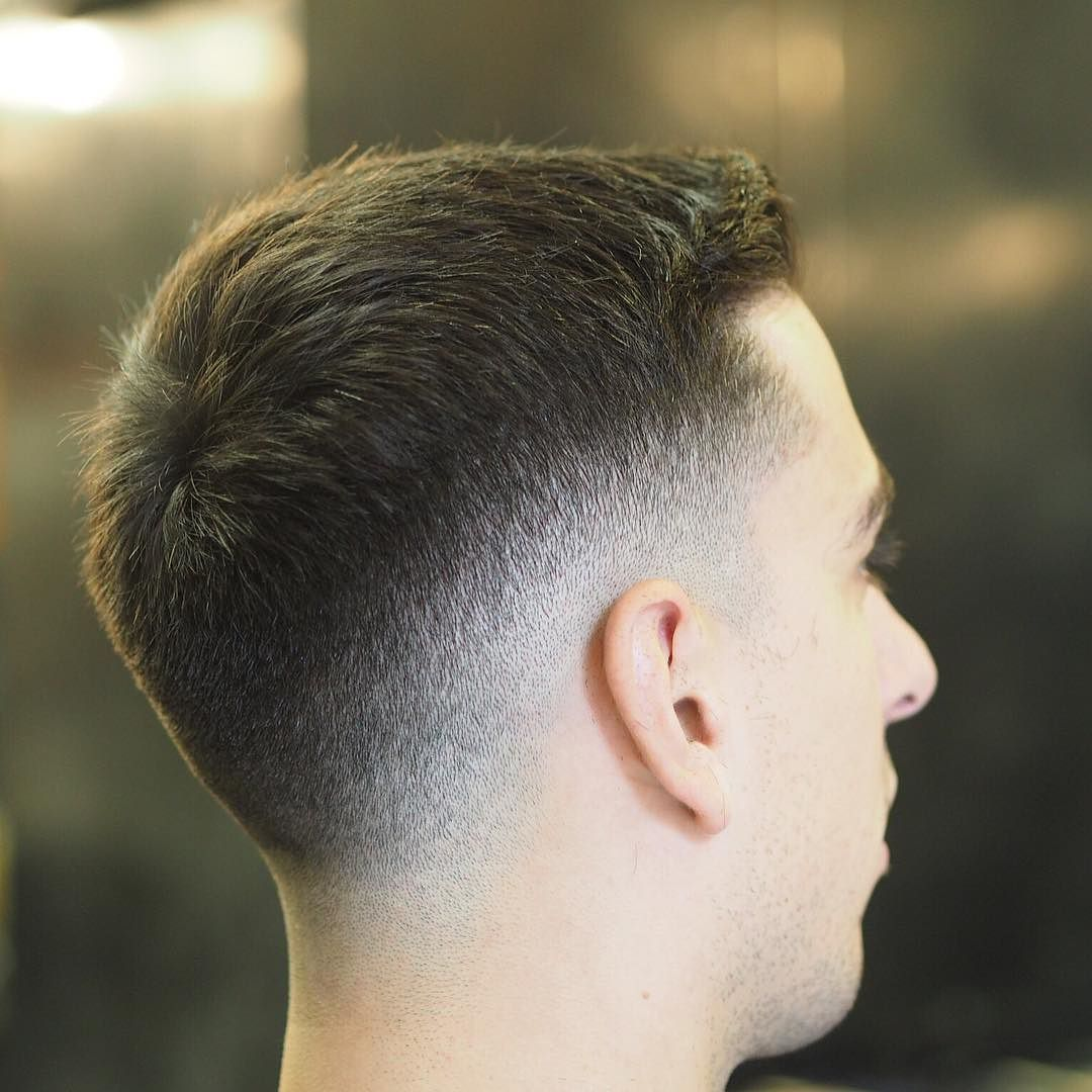 Mens fade haircuts saturday got demolished dropped  fade with short textured top