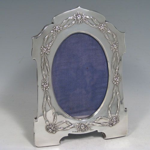 Antique Edwardian Sterling Silver Photo Frame Antique Silver