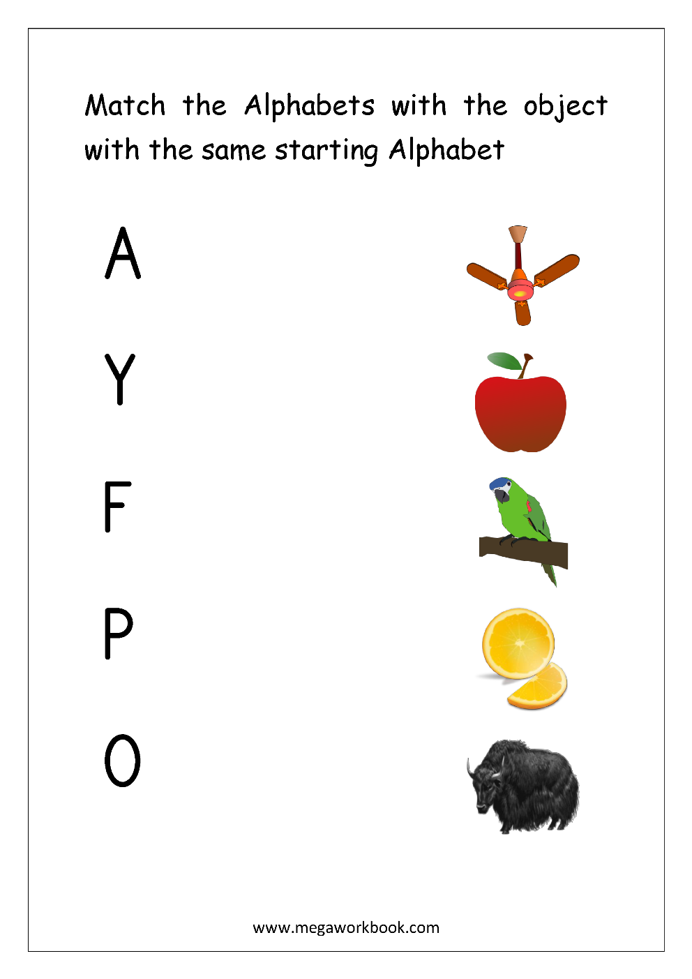 Worksheet Match Object With The Starting Alphabet Capital Letters Free English Worksheets Alphabet Matching Matching Worksheets [ 1403 x 992 Pixel ]