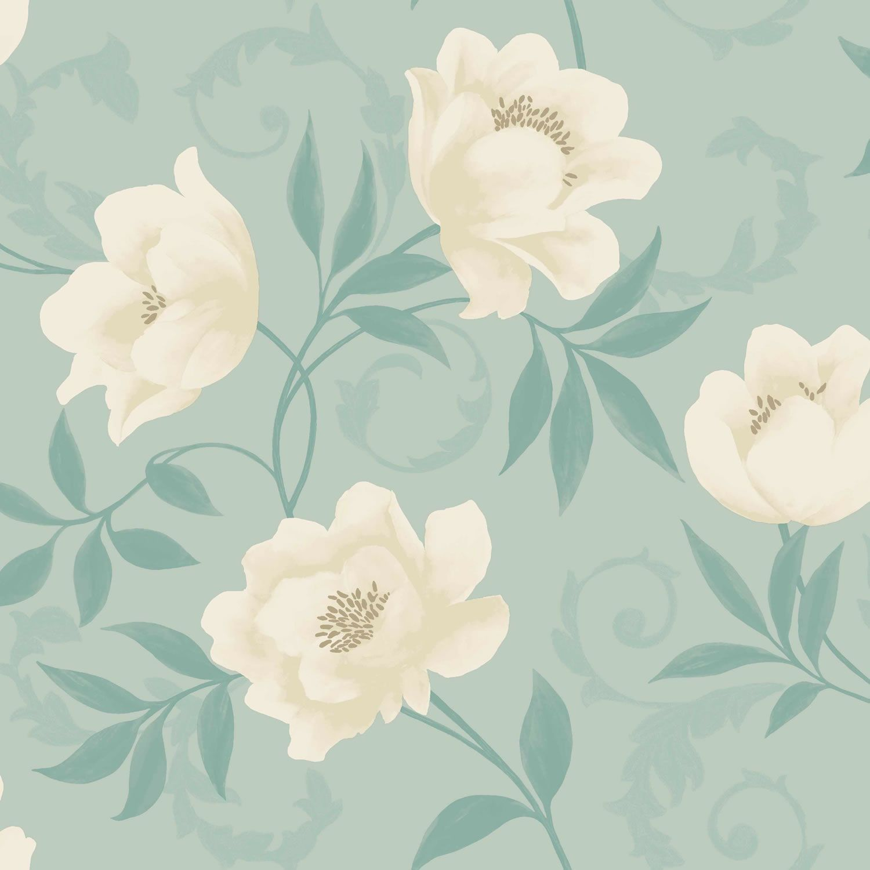 Blue Vintage Floral Wallpaper Blue Vintage F Vintage Floral