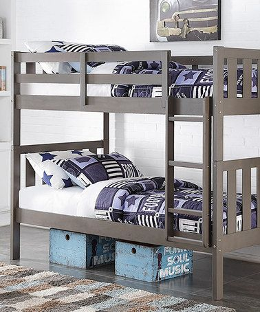 slate gray mission twin bunk bed zulilyfinds kids bedroom ideasroom