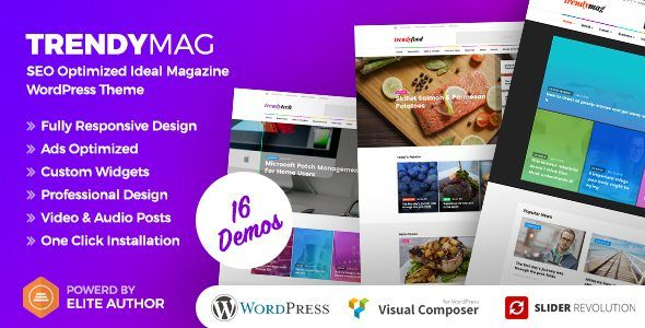 Download TrendyMag - WordPress News Magazine & Blog Theme Nulled ...