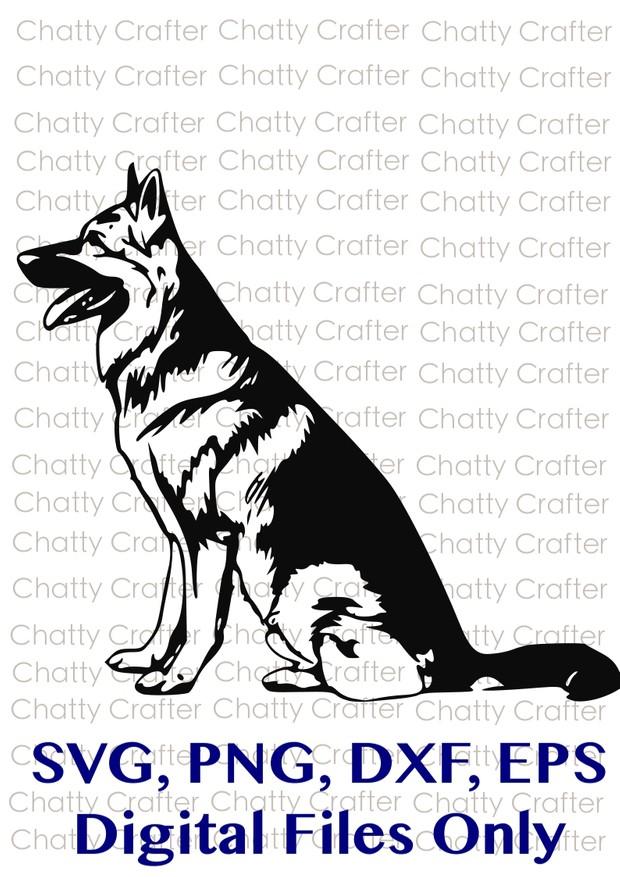 German Shepherd Dog Digital Download SVG EPS PNG DXF