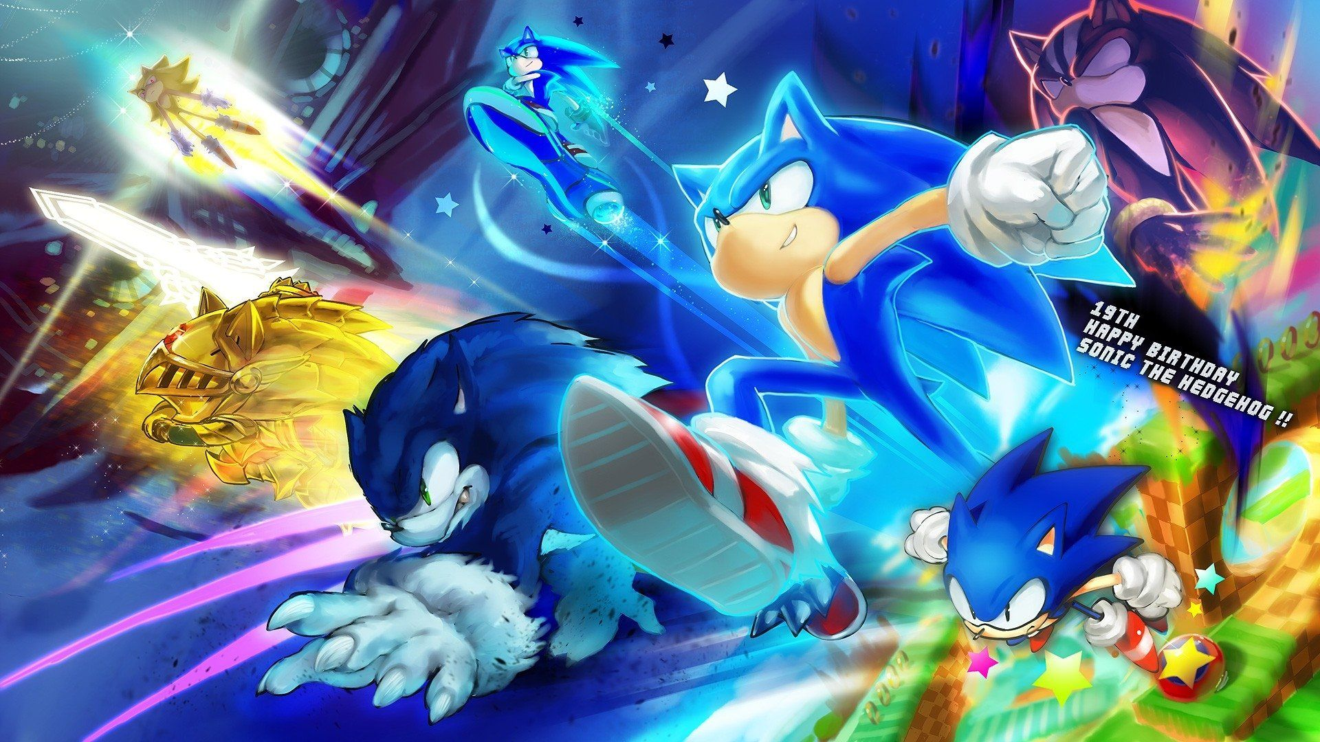 Sonic Wallpaper HD Cartoon wallpaper, Anime, Sonic fan art