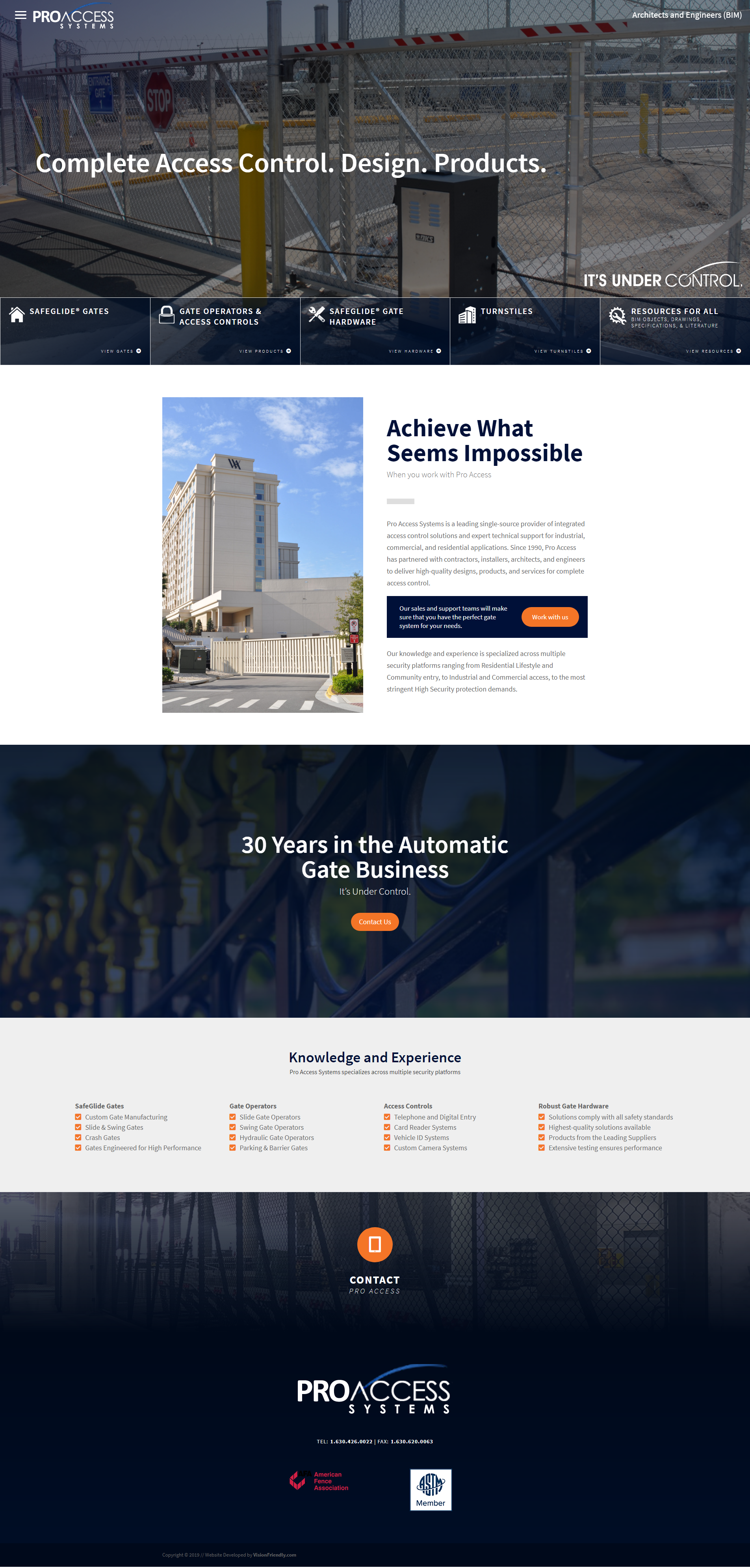 Website Design For Proaccess Systems By Visionfriendly Com Gates Industrialgates Automatedgates Indu Business Web Design Web Design Agency Automatic Gate