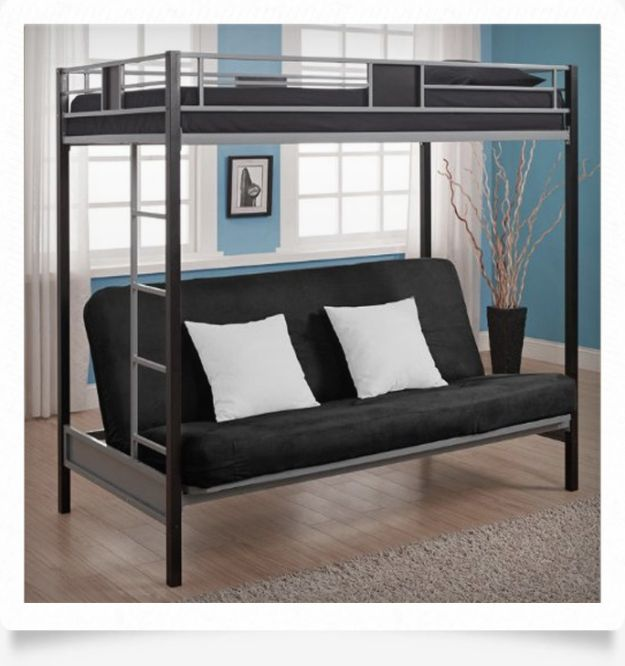 A Twin Bunk Over Futon Sofa Bed | Bedcide