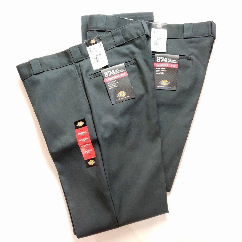 Dickies 874 original fit work pants mens size 38 32 gray