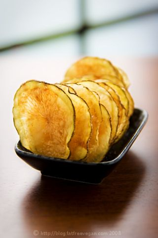 Microwave Potato Chips- NO FAT!! Crispy and tasty, I've made them and my kids love them.