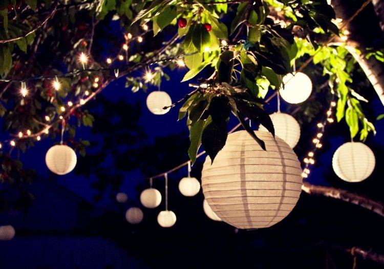 gartendeko mit laternen aus papier selber machen | garten, Garten Ideen